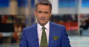 Aengus Mac Grianna during the News at One on RTÉ television on Saturday