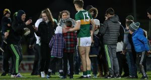 David Clifford poses for photographs with Kerry fans after the match. Photograph: Inpho