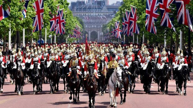 Trooping of the colour in London. Brexit is driven in part by imperial nostalgia.