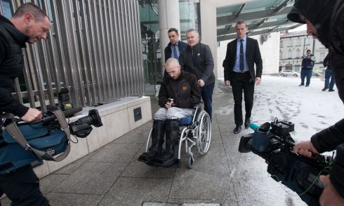 MURDER CHARGE: Keith Lee leaves the CCJ after a special sitting at Parkgate Street, Dublin. Photograph: Gareth Chaney/Collins