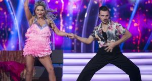 Erin McGregor, with pro dancer Ryan McShane, bows out of Dancing with the Stars. Photograph: Kyran O'Brien