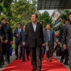 Cambodian prime minister Hun Sen: has ben accused by exiled opposition leader Sam Rainsy of buying fake fans to boost his Facebook profile. Photograph: Adam Dean/The New York Times