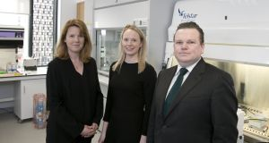 Avectas co-founder and chief scientific officer Dr Shirley O'Dea (left) with head of business development Dr Gillian Hendy, and CEO and co-founder Michael Maguire. Photograph: Fennell Photography