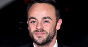 TV presenter Ant McPartlin: taking time off for foreseeable future. Photograph: Matt Crossick/PA