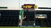Limerick's Colin Ryan before scoring the winning free. Photograph: Inpho