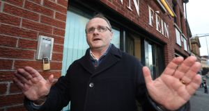 Barry McElduff:  resigned as an MP after posting a video of himself with a loaf of Kingsmill bread on his head in the anniversary of the 1976 Kingsmill massacre. Photograph: Niall Carson/PA Wire