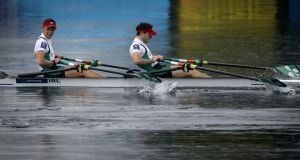 Paul O'Donovan and Gary O'Donovan were in action at the Sydney International Rowing Regatta on Tuesday. Photograph: Inpho