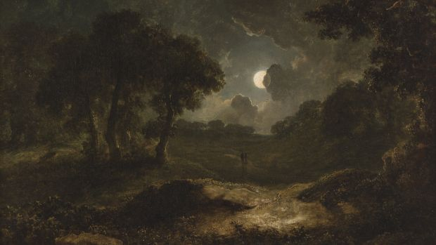 'Two Figures in a Moonlit Landscape' by James Arthur O'Connor