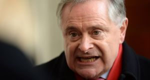 Labour party leader Brendan Howlin says he believes there will be a decisive result in favour of change. Photograph: Dara Mac Dónaill/The Irish Times