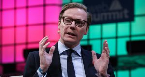 Alexander Nix, chief executive of Cambridge Analytica, a private company which appropriated and exploited about 50 million Facebook user profiles and – by its own words – nano-targeted enough unsuspecting voters to elect Donald Trump. Photograph: Henry Nicholls/Reuters