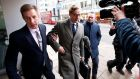 ALLEGATIONS OVER DATA: Cambridge Analytica chief executive Alexander Nix arrives at the company's offices in central London amid a media scrum following reports of alleged misuse of personal data from Facebook by the behavioural targeting firm in the US. Photograph: Henry Nicholls/Reuters