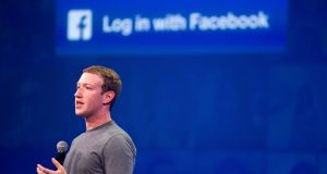 Facebook chief executive  Mark Zuckerberg speaks at a  summit in San Francisco, California. Photograph: Josh Edelson/AFP/Getty Images