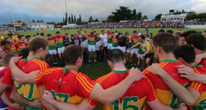Carlow footballers have already achieved what few other counties will achieve this year – their primary objective. Photograph: Donall Farmer/Inpho