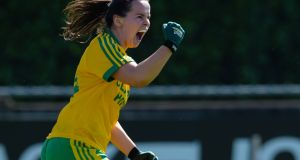 Geraldine McLaughlin: returned to the fray for Donegal in the win over Monaghan. Photograph: Tom Beary/Inpho