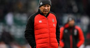Eddie Jones: has presided over England's fall from Six Nations champions last year to fifth place this season. Photograph:  Dan Mullan/Getty Images