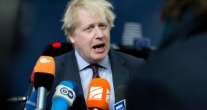 British foreign secretary Boris Johnson speaking to the press before   a meeting of EU foreign ministers  in Brussels on Monday, March 19th. Photograph: Virginia Mayo/AP