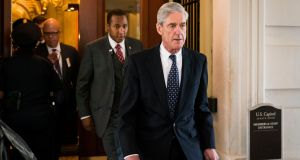 Robert Mueller is the special counsel appointed last summer to lead the inquiry into Russian collusion in the 2016 US presidential election. Photograph: Doug Mills/The New York Times
