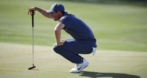 Rory McIlroy was beaten 2 and 1 by Pete Uihlein in his Match Play opener in Texas. Photograph: Gregory Shamus/Getty