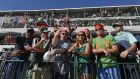 Fans at the 16th hole during the third round of the Waste Management Phoenix Open at TPC Scottsdale in Arizona. Photograph: Robert Laberge/Getty