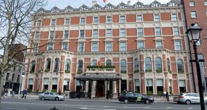 US fund Kennedy Wilson owns the  Shelbourne Hotel, which took it out of receivership in 2014, with about €110 million in debt attached.