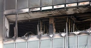 The scene of the at the Metro Hotel fire. Photograph: Colin Keegan/Collins