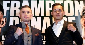 Carl Frampton's fight with Nonito Donaire on April 21st will be for the WBO interim featherweight title. Photograph: