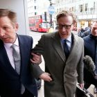 Alexander Nix, chief executive of Cambridge Analytica, arrives at the offices of Cambridge Analytica in London:  firm may have been frustrating the democratic process. Photograph: Henry Nicholls