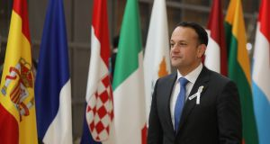 Speaking at the first day of the EU summit in Brussels, Taoiseach Leo Varadkar has said Ireland is 'in full solidarity' with the UK in its diplomatic stand-off with Russia. Photograph: Getty Images