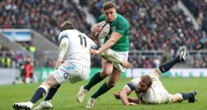 Jordan Larmour  during the  6 Nations match at Twickenham last weekend. Photograph: Gareth Fuller/PA Wire