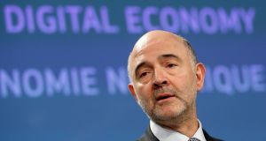 """The EU has set out two proposals to alter the ways in which ""digital"" companies are taxed within the Union.""European Economic and Financial Affairs Commissioner Pierre Moscovici holds a news conference at the EU Commission's headquarters in Brussels, Belgium, March 21, 2018.   REUTERS/Francois Lenoir"