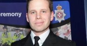Wiltshire Police  handout  photo of Det Sgt Nick Bailey, who fell ill after tending to poisoned spy Sergei Skripal and daughter Yulia. He has been discharged from hospital. File photograph: Wiltshire Police/PA Wire