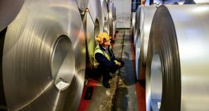 US steel and aluminium stocks were punished after the US granted the EU and several other leading trading powers a reprieve from heavy US tariffs on imports of those metals. Photograph: PA Wire