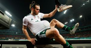 Gareth Bale's hat-trick helped Wales to a 6-0 win over China. Photograph: Reuters