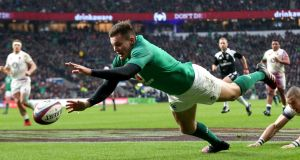 Jacob Stockdale has been voted the 2018 Six Nations Player of the Championship. Photograph: Billy Stickland/Inpho