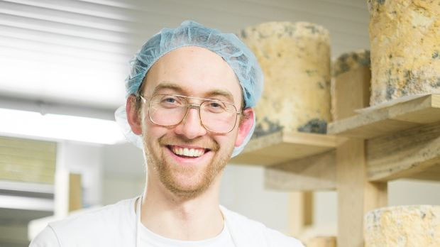 Mike Thomson of Mike's Fancy Cheese, which makes Young Buck cheese.