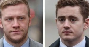 Stuart Olding (left) and Paddy Jackson deny the charges against them.