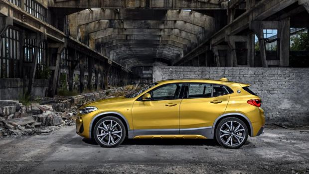 BMW X2: despite its size it can tackle the rough and tumble of driving through mud or snow