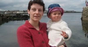 Emma Prunty with her daughter in Sandycove in 2007, in one of the first photographs she posted on Facebook.