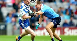 Monaghan's Conor McManus and Dublin's  Mick Fitzsimons may renew acquaintances at Croke Park. Photograph: James Crombie/Inpho