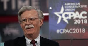 New national-security adviser: John Bolton at this year's Conservative Political Action Conference. Photograph: Alex Wong/Getty