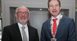 Dr Dan Crowley (left), a member of the  National Association of General Practitioners' council, with  the organisation's president Dr Emmet Kerin. Photograph: Jim Coughlan.