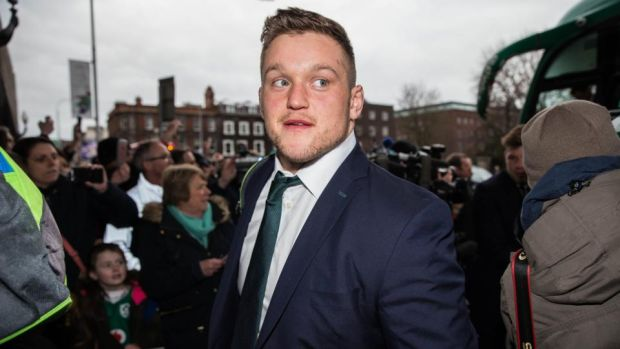Ireland prop Andrew Porter arrives at the Shelbourne Hotel after the return from London. Photograph: Gary Carr/Inpho