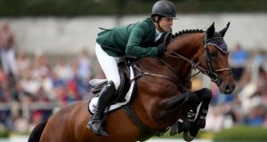 Ireland's Shane Sweetnam  won the 1.45m two-phase class in Mexico City. Photograph: Tommy Dickson/Inpho