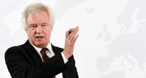 "Britain's top Brexit official, David Davis, said: ""Option A is that we get a free-trade agreement, we get a customs agreement, all of those make the Northern Ireland issue much, much easier to solve."""