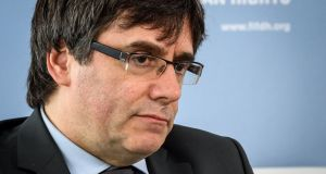 Carles Puigdemont is currently in police custody in Germany. File photograph: Fabrice Coffrini/AFP/Getty Images