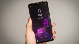 The Galaxy S9+ smartphone sports new features like augmented reality-based emojis, camera upgrades and stereo speakers. Photograph: David Paul Morris/Bloomberg