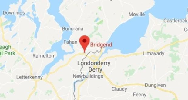 Charity collectors bucket stolen by occupants of passing car map shows the location of bridgend in co donegal near the border with northern ireland gumiabroncs Choice Image