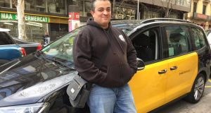 Alberto Álvarez, of the Élite taxi drivers' association, has become a figurehead of the campaign against Uber in Barcelona. Photograph: Guy Hedgecoe