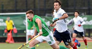 Glenanne's Shane O'Donoghue in action for Ireland last year. O'Donoghue's strike gave his side a victory over Railway Union. Photograph: Inpho/Presseye