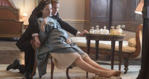 "Popular platform: Queen Elizabeth (Claire Foy) and Prince Philip (Matt Smith) share an intimate moment in Netflix's ""The Crown""."